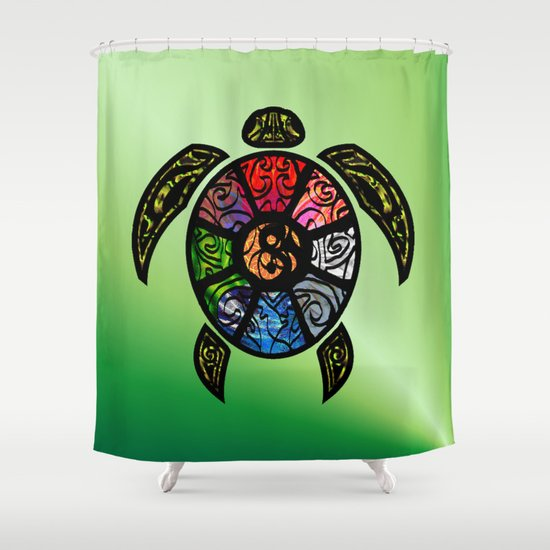 Bagua Turtle Shower Curtain