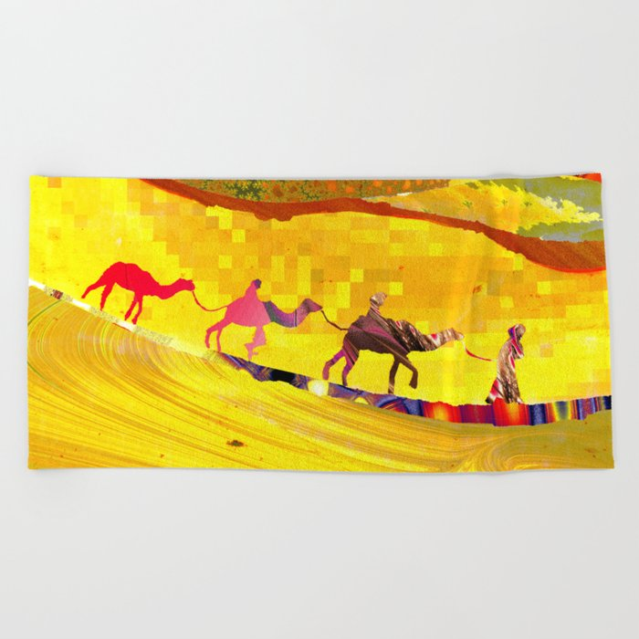 over the never ever ending sand Beach Towel