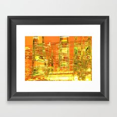 A waved skyscraper Framed Art Print
