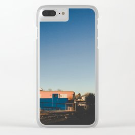 Orange and Blue Clear iPhone Case