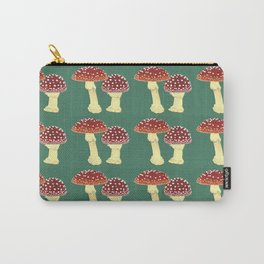 toadstools green squares Carry-All Pouch