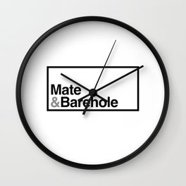 Mate & Barehole / Crate and Barrel Logo Spoof Wall Clock