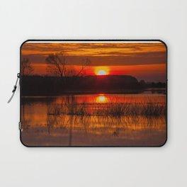 Sundown over Biebrza river in Poland Laptop Sleeve
