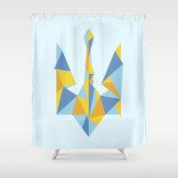 ukraine Shower Curtains featuring Ukraine Geometry by Sitchko Igor