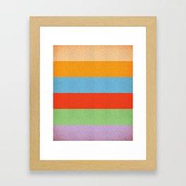 VINTAGE RETRO PATTERN HORIZONTAL BARS Framed Art Print