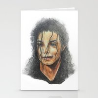 mike wrobel Stationery Cards featuring Mike by QIQI DRAWS