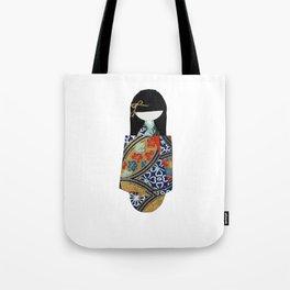 Emiko Blue Tote Bag