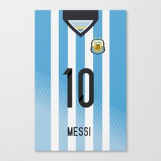 World Cup 2014 - Argentina Messi Shirt Style Canvas Print