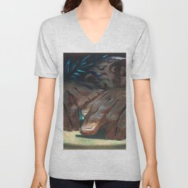 Classical Masterpiece 'The Drummer' by Charlot Jean Unisex V-Neck