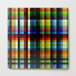 Colorful Rainbow Grid Naga Metal Print