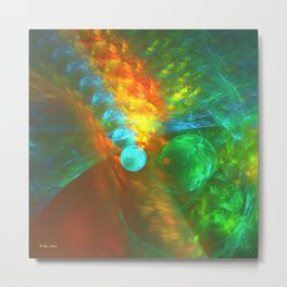Orbital Decay Metal Print