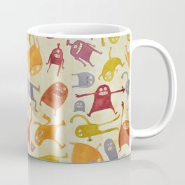 Watercolor Critter Pattern Alpha Coffee Mug
