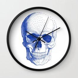 Blue skull Wall Clock