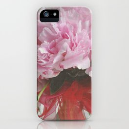 FLUFFY PINK PEONIES - SPRING IS ON THE WAY iPhone Case