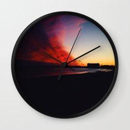 A Maine Winter Sunset Wall Clock