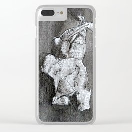 Study in Grey 3 Clear iPhone Case