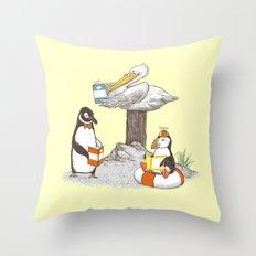 Birds of Literacy Throw Pillow