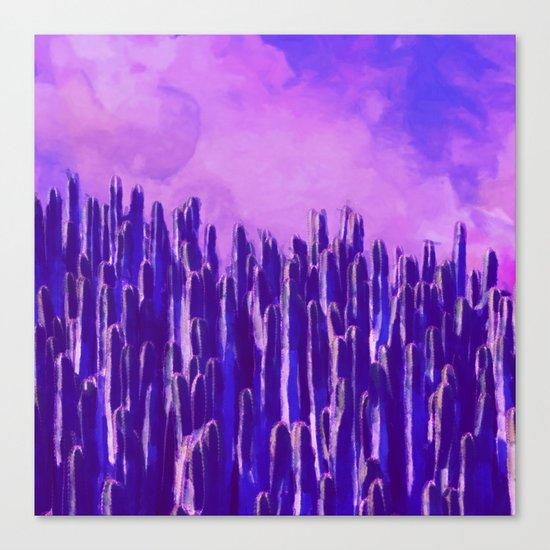 Cacti landscape Canvas Print