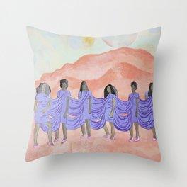 A Seat on the Mountain Top Throw Pillow