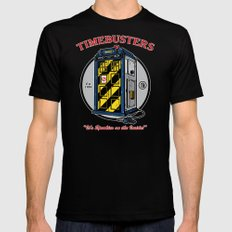 Timebusters MEDIUM Black Mens Fitted Tee