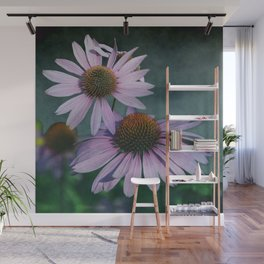 Beautiful summer with pink Echinacea / Daisy flowers Wall Mural