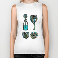 succulents Biker Tanks featuring Succulents by Marginalink