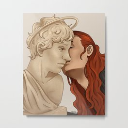 Kissing beauty Metal Print