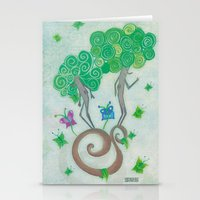 surrealism Stationery Cards featuring Tree Surrealism by Design SNS - Sinais Velasco