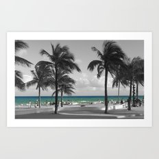 Miami Beach Florida Ocean Art Print