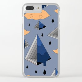 Blue Py Clear iPhone Case