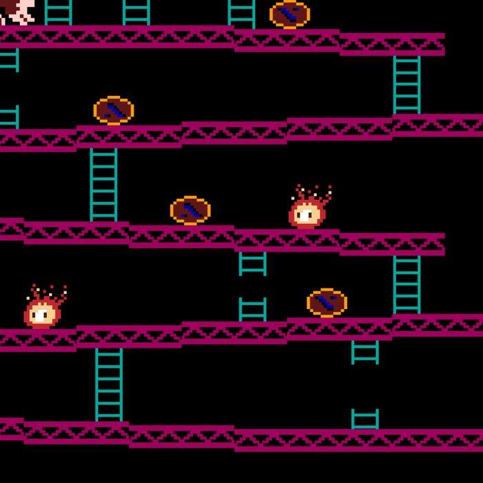 Donkey Kong Retro Arcade Gaming Design Leggings