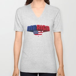 4th Of July Independence Day Merica Unisex V-Neck