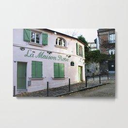 The Pink House Paris Metal Print