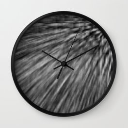 Slate Gray Pixel Wind Wall Clock