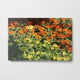 Sea of Orange & Yellow Metal Print