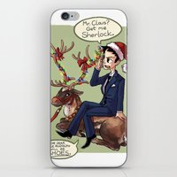 moriarty iPhone & iPod Skins featuring Moriarty Christmas by Tintreas