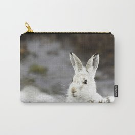 white mountain hare Carry-All Pouch