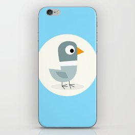 Mr Bird Blue iPhone Skin