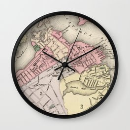 Vintage Map of Portsmouth NH (1877) Wall Clock