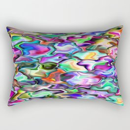 unusual abstract art design background Rectangular Pillow