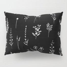 Black wildflowers Kissenbezug
