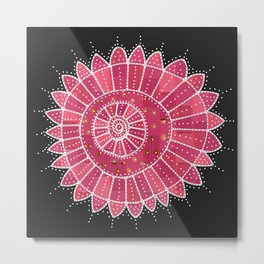 Attack of the Jellyfish Flower Metal Print