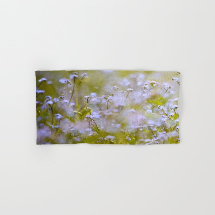 Forget-me-nots On a Windy Day #decor #society6 Hand & Bath Towel