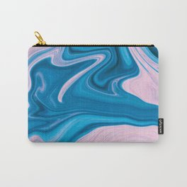 Wavy Pink & Blue (Color) Carry-All Pouch