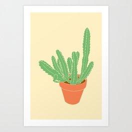 Cactus Plant Illustrated Print Art Print