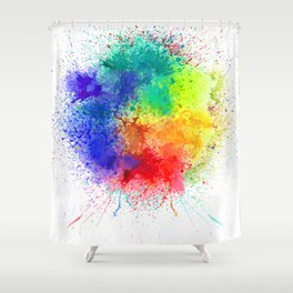 Festival of Colors Shower Curtain