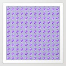 Purple Cherries Art Print