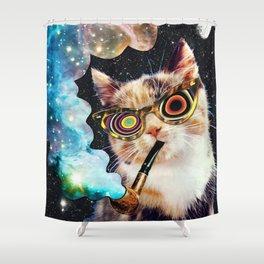 High Cat Shower Curtain