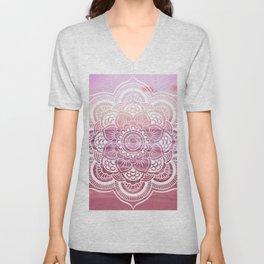 Water Mandala Pink Unisex V-Neck