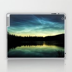 Noctilucent Clouds Over Forest Lake Laptop & iPad Skin